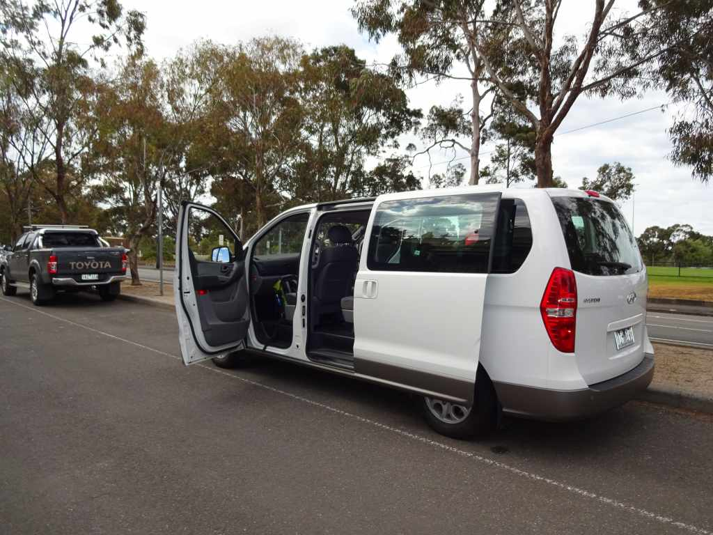 Our huge van for the road trip to the Grampians