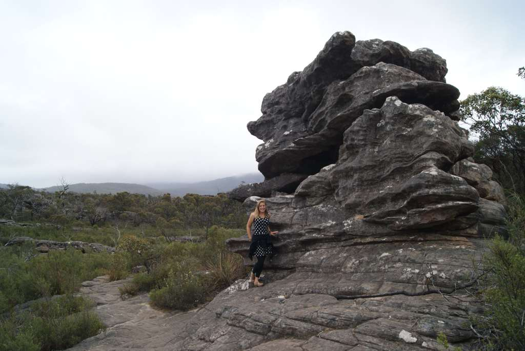 Posing on Pinnacle Trail, Grampians National Park, Australia