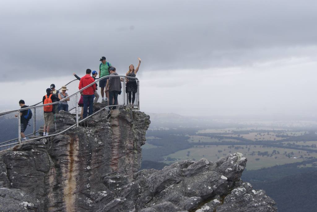 Standing at the top of the Pinnacle, Grampians National Park, Australia