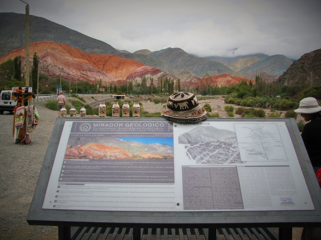 Mirador Geologico in the Quebrada de Humahuaca at Purmamarca, Argentina