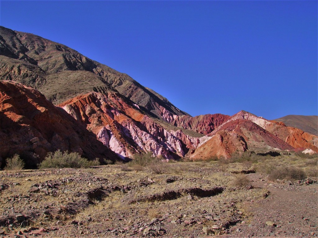La Quebrada de Humahuaca: colorful mountains and rock formations everywhere you look