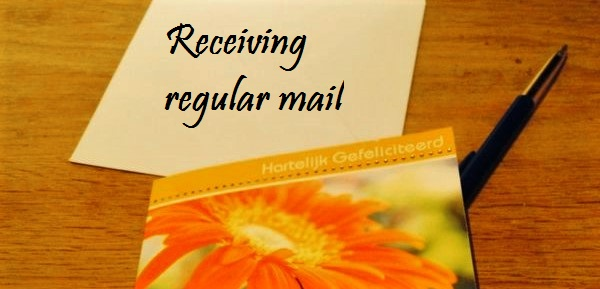 Receiving regular mail