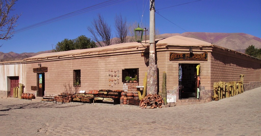 Artisan shop on the main square of Uquía, Quebrada de Humahuaca, Argentina