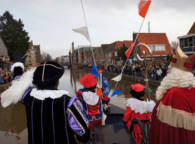 Sinterklaas and his helpers called Black Pete