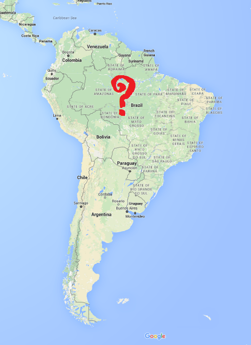 Google Maps screenshot of South America