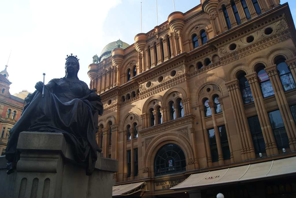 Queen Victoria, who reigned from 1837 to 1901, a prominent figure throughout Australia.