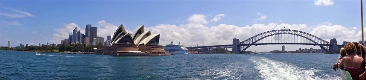 Panorama of Sydney Harbour with Opera House and Harbour Bridge