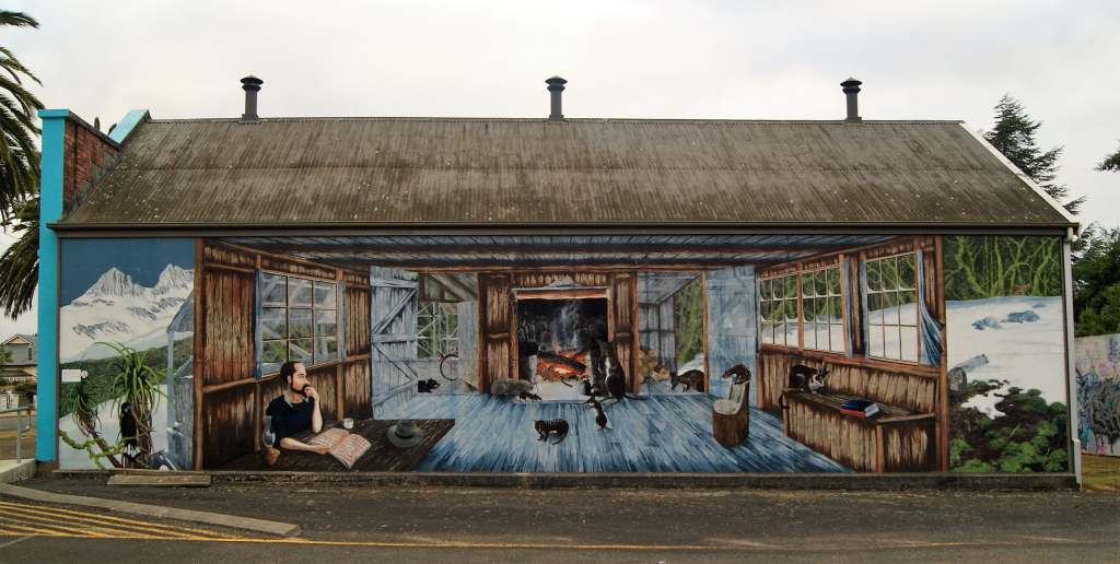 Mural at Sheffield Rest Area, Tasmania