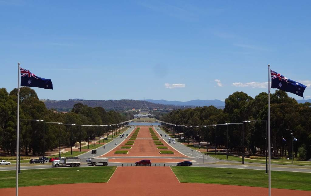 Capital Hill in Canberra seen from the Australian War Memorial
