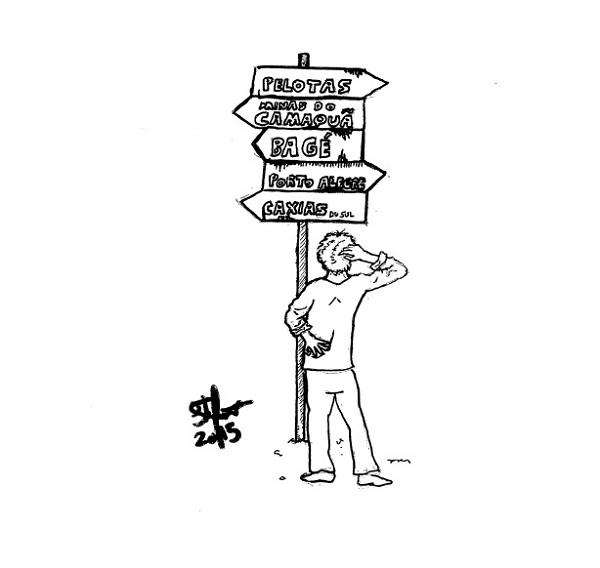 Chirú - literatura gaúcha - desenho de Stefano Pfitscher