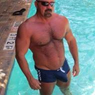 cock tease muscle daddy big cock bulge speedos