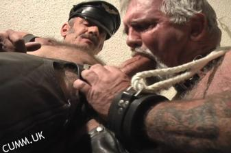 leather daddy big cock sucked