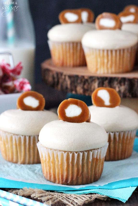 Caramel Cream Cupcakes