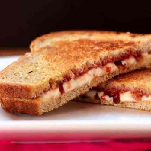Strawberry Bacon and Havarti Grilled Cheese on Rye 1