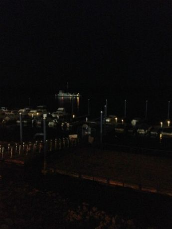 Clinton tug boat lights twinkling