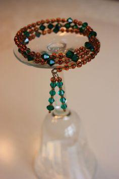 Grandma's broken necklace now a bracelet
