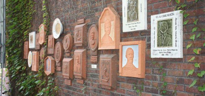 Soumas Courtyard plaques