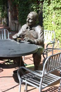 sculpture of George Soumas