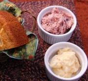 cranberry butter and honey butter