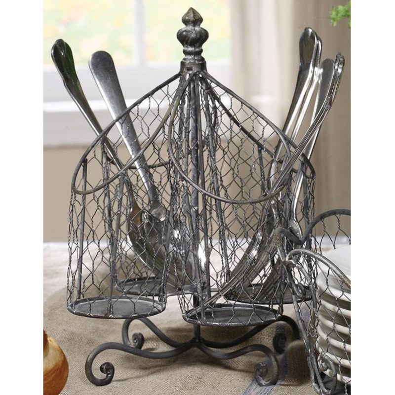 Shabby Chic Utensil Holder