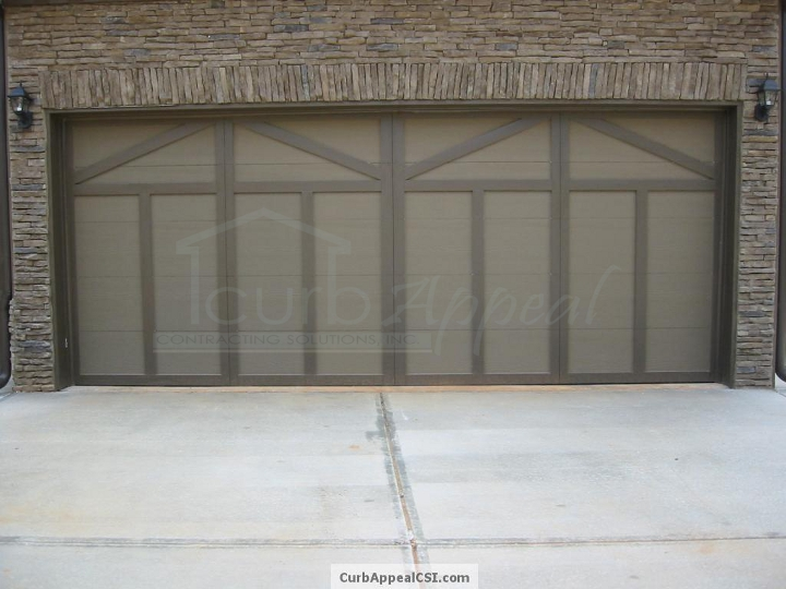 Custom Carriage Style Garage Door Installed In Buford, GA