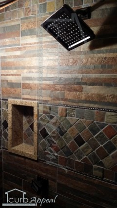 New Tiles And Shower Head/Body Spray combo