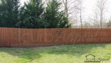 Privacy fencing installation