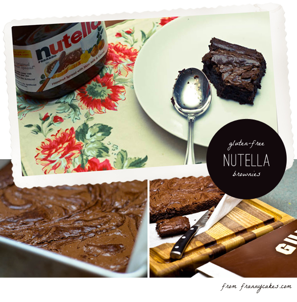 gluten free brownies with nutella
