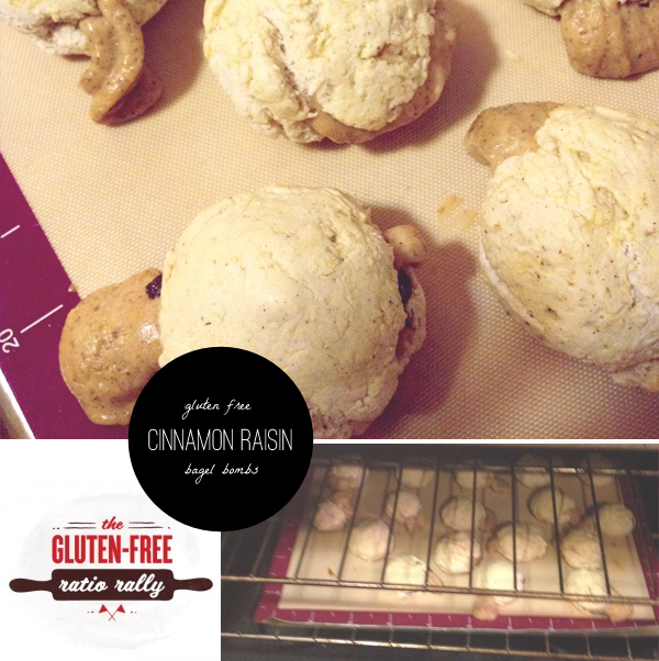 gluten free cinnamon raisin bagel bombs