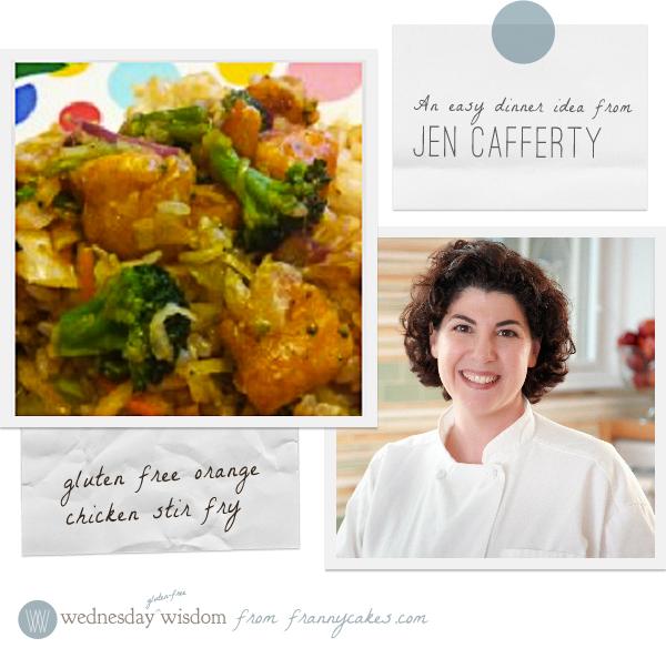 gluten free orange chicken stir fry from Jen Cafferty