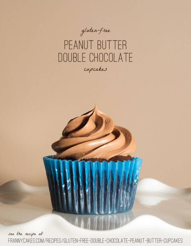 gluten-free peanut butter chocolate cupcakes from frannycakes