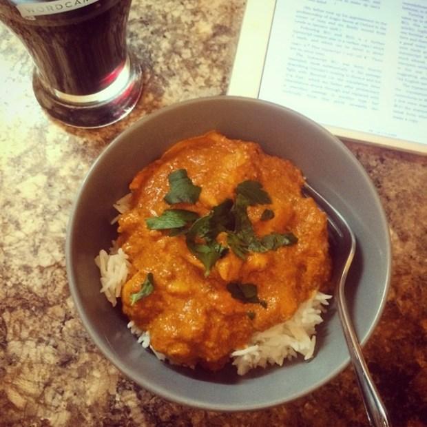 gf chicken tikka masala for #singleladysupper