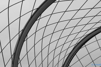 Eiffel curves - Beautiful curved pattern of the steel mesh at the top most floor of Eiffel tower