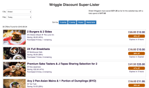 wriggle discount super lister