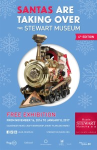 The popular Santas Are Taking Over the Stewart Museum exhibition returns to the Stewart Museum until Jan. 8, 2017