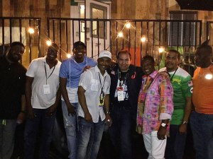 Ron RoXtar with Kool & the Gang VIP backstage. July 30th 2017