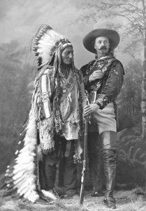 This mythical photo of the American Old West with Sioux chief Sitting Bull and William F. (Buffalo Bill) Cody was taken by Montreal photographer William Notman in Montreal, and is part of the MMFA's Once upon a time… The Western exhibition