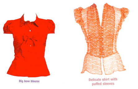 Skittle blouse and Pear blouse