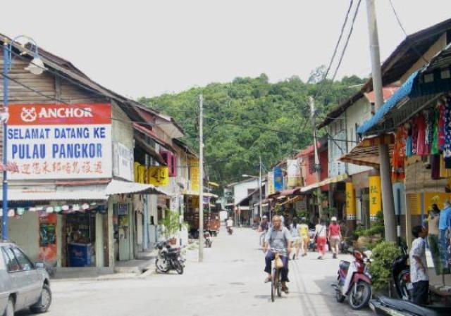 Pangkor Town in Pangkor Island