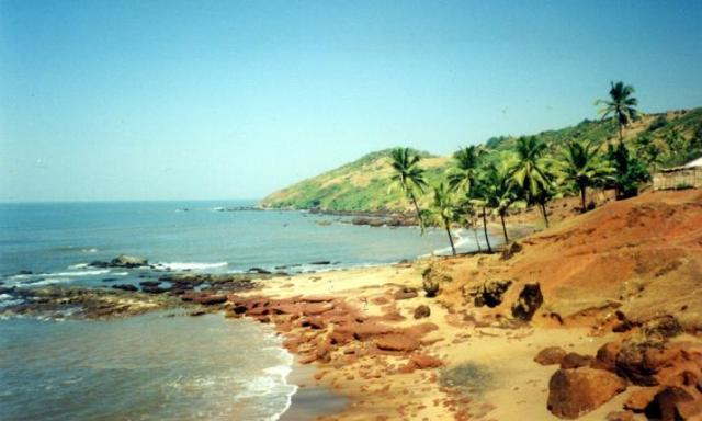 beach, goa, anjuna, india