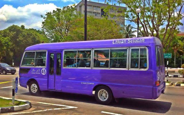 getting around, bus, brunei