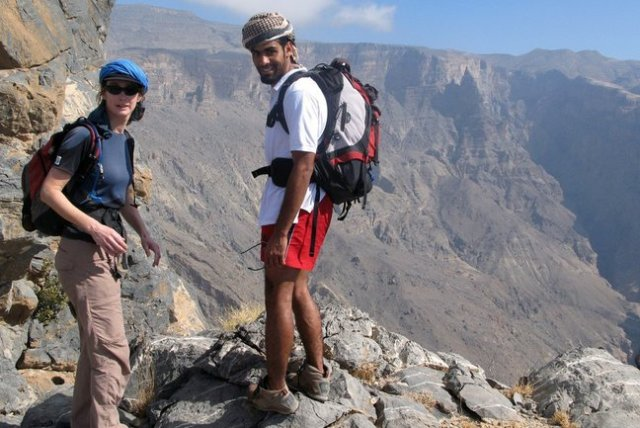 trekking, hiking, oman