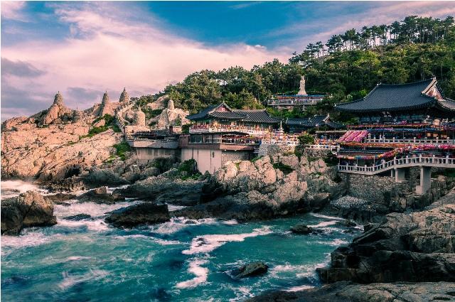 temple, island, yeongjong, korea, incheon