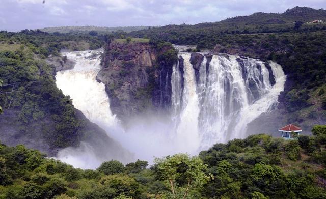 water falls, india, banglore, shivanasamudra