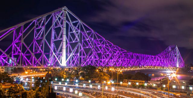 bridge, calcutta, india