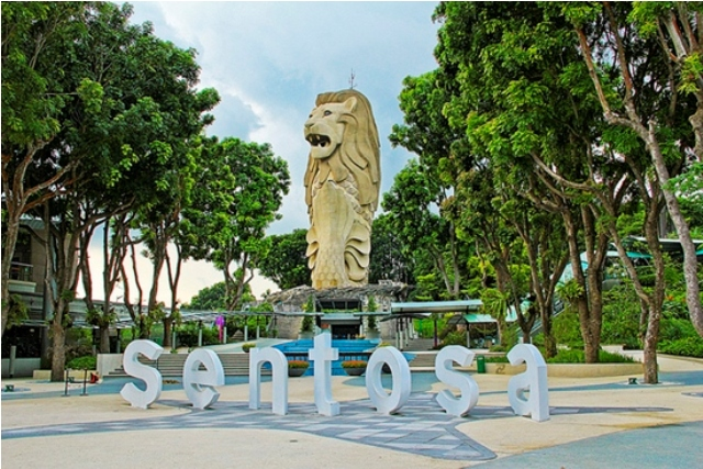 sentosa, island, singapore, attraction