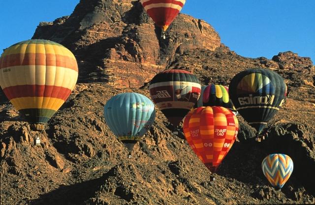 aviation activity, hot air balloon, aqaba, jordan