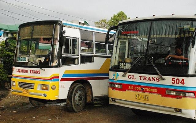 getting around baguio, philippines, bus