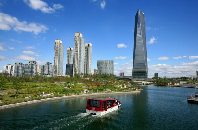 songdo international city, incheon, korea