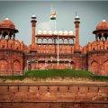 red fort, new delhi, india